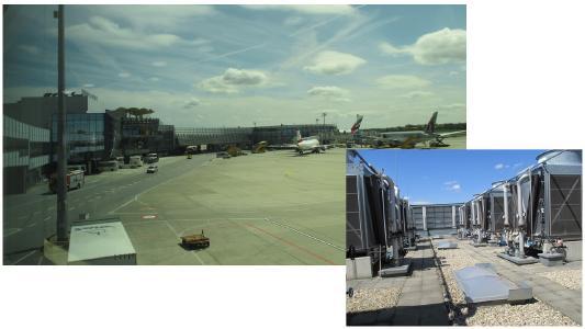 Figure 1: Vienna International Airport + heat exchangers at Vienna airport