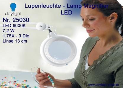 Daylight LED Lupenleuchte 25030 mit 1,75X oder 2,25X