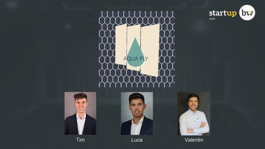 """Das Team """"AQUA FLY"""" der Hochschule Aalen gewann im landesweiten Wettbewerb Start-up BW ASA den Sustainability Award"""
