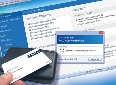 Noch schnellere Anmeldung in die ConSense-Suite: Einloggen per RFID-Authentifizierung