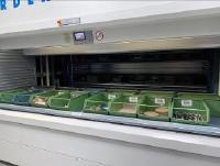 Die acht Shuttlelager sorgen für eine optimale Montageversorgung
