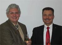 Foto: Lothar Bubel (li), Geschäfstführer caigos, Renato Herrmann, Geschäftsbereichsleiter GISA