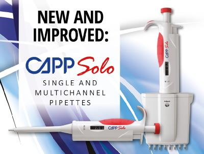 New and Improved: CAPPSolo Single and Multichannel Pipettes