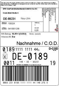 DPD-Paketaufkleber