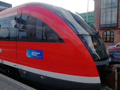 Westfrankenbahn Zug mit WLAN