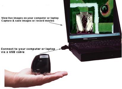 Metocheck miniscope das video mikroskop das in ihre handfläche