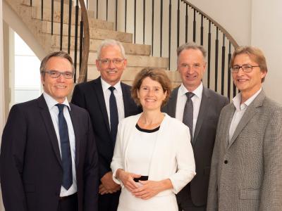 Der Aufsichtsrat der ABO Wind AG mit (von links) Josef Werum, Norbert Breidenbach, Eveline Lemke, Jörg Lukowsky und Dr. Uwe Leprich