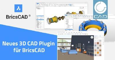 Neues BricsCAD Plugin powered by CADENAS: 3D CAD & BIM Modelle kostenlos in Konstruktionen & Planungen einfügen