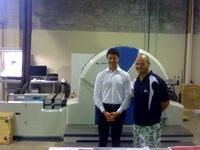 Scott Siganto, Managing Director of IBS Design Resources at the hand-over of the Genius 52UV, together with Jack Malki of Jet Technologies (official representative of KBA-MetroPrint AG in Australia) (from left to right)