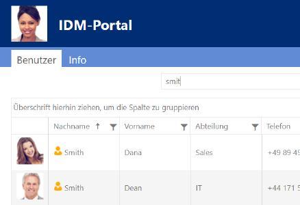 IDM Portal Active Directory Telefonbuch