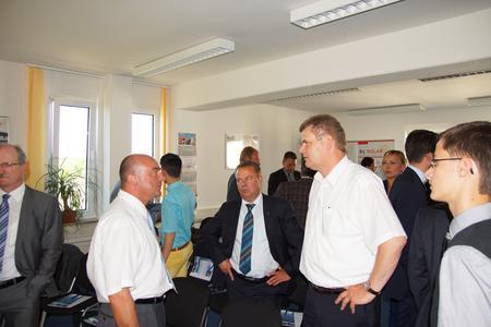 Fred Kehler (GF B5 Solar GmbH) und Holger Schreiber (BM - Wustermark)