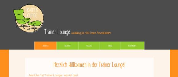 Trainer Lounge Homepage