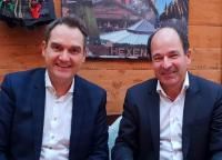 Erneut gewählte Vorstandskollegen Dr. Oliver Grün und Martin Hubschneider am Rande der Mitgliederversammlung in Aachen. Andera Gadeib vertrat derweil den IT-Mittelstand im Düsseldorfer Wirtschaftsministerium