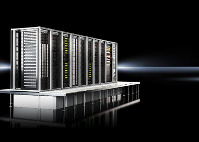 RiMatrix S ist ein komplettes Rechenzentrum, das sich aus folgenden standardisierten Komponenten zusammensetzt: einer definierten Anzahl an TS IT Server- und Netzwerk-Gestellen, der Klimatisierung, der Stromversorgung und -absicherung sowie dem Monitoring. Gemeinsam bilden sie ein komplettes Server-Modul,  Quelle: Rittal GmbH & Co. KG