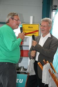 Zwei Pioniere, die sich auf Anhieb verstanden: Dr. Manfred Wittenstein, Vorstandsvorsitzender der WITTENSTEIN AG, und Christoph Biemann, bekannt aus den Lach- und Sachgeschichten der Sendung mit der Maus