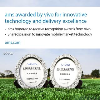 vivo honors ams with two awards: Best Innovation Award 2020 and Best Delivery Award 2020