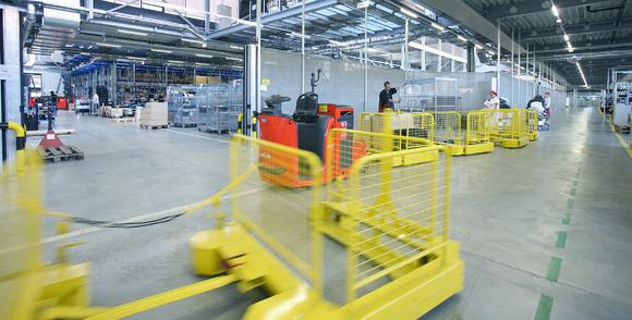 Logistikzug im Rahmen des HyLOG Projekts am Fronius Standort Sattledt (A)