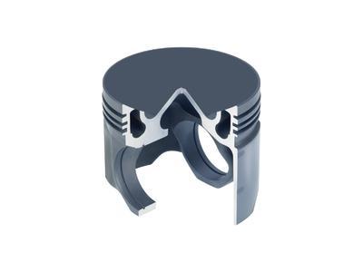 Monoblock Stahlkolben KS Spinteks für Nkw-Dieselmotor mit extrem