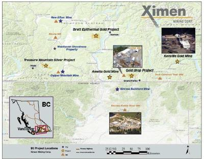 Ximen Mining Makes Final $1,000,000 Cash Payment on Kenville Gold Mine Royalty Agreement, Nelson BC