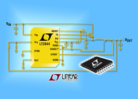 60V DC/DC Controller Allows Frequency Adjustment to Optimize Efficiency and Size