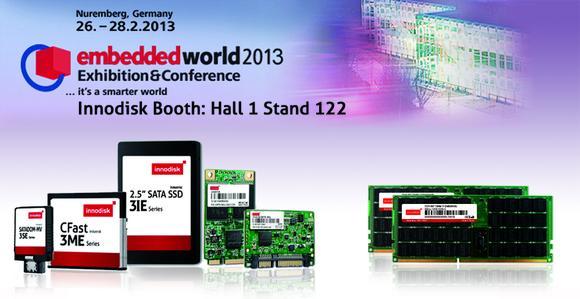 Innodisk zeigt ein komplettes Angebot an Industrie-SATA-III-Speicher auf Embedded World 2013