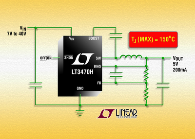 40V, 200mA Micropower Step-Down DC/DC with TJ(MAX) = 150˚C