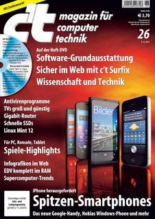 Titelbild der aktuellen c't-Ausgabe 26/2011