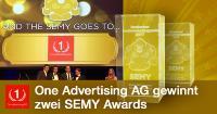 Die One Advertising AG gewinnt den SEMY Award 2017 als Beste SEO Agentur