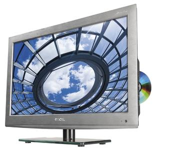 Chic, stark, mobil und günstig – der AIL-2724S2DVD mit 60 cm Bildschirmdiagonale im Brushed Steel Finish Design