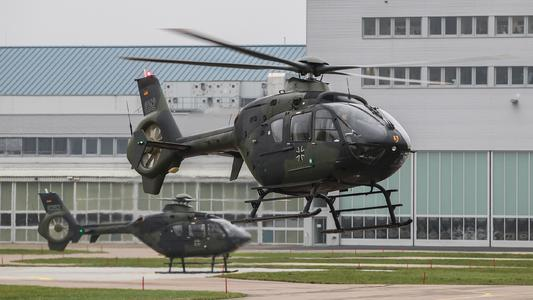 Two EC135´s of the German Army Aviation School starting into a training mission for student pilots (© Copyright Airbus Helicopters, Charles Abarr)