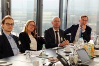 Mitglieder der FDP/DVP-Landtagsfraktion informieren sich bei INIT, von links: Niklas Junkermann, Doris Betz, Markus Flandri, Jürgen Keck (Foto: INIT)
