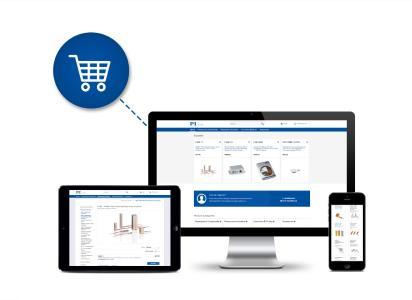 Piezokeramik-Komponenten, -Aktoren und -Verstärker jetzt bequem online kaufen: Neuer Webstore von PI Ceramic (Bild: PI)