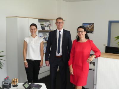 Das Team der IHK-Außenstelle in Wertheim (von links): Sandra Diehm, Christof Geiger und Silke Zipprich. Foto IHK