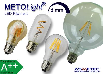 METOLIGHT LED-Filament-Lampen