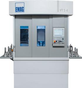 Die VT 2-4 ist eine 4-achsige Wellendrehmaschine für Wellen bis 400 mm Länge und 63 mm Durchmesser