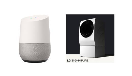 In den USA bereits kurzfristig möglich: Die Steuerung der TWINWash Waschmaschine aus der LG SIGNATURE Reihe per Sprachbefehl an den persönlichen digitalen Assistenten Google Home