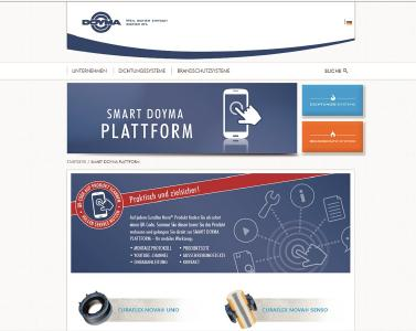 Landingpage der Smart DOYMA Plattform