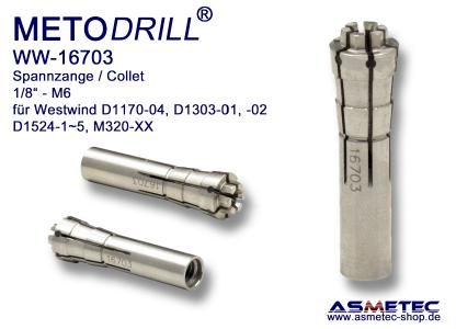 METODRILL Spannzange  WW-16703 für Westwind Frässpindeln