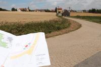 An der Vorstadtstraße südlich von Maroldsweisach (Bayern) errichtet die EnBW die Übergabestation für den Solarpark Birkenfeld
