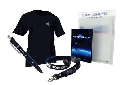Wer sich auf der White Horizon Mailingliste einträgt, erhält das kostenlose White Horizon Space-Kit / TE+TE