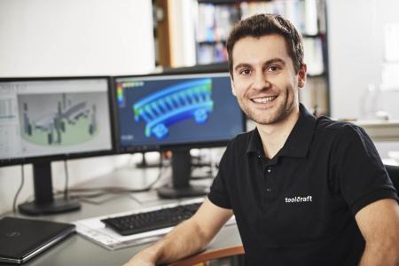 BU 2: Ralf Domider, Konstruktion und Simulation im Bereich Metall-Laserschmelzen bei Toolcraft