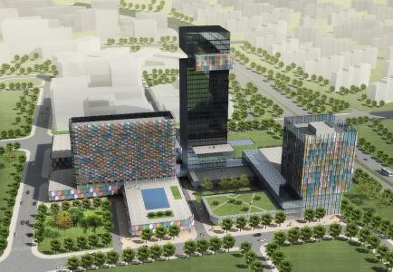 Trade Center Xian City Rendering (Bildnachweis: thyssenkrupp Elevator)
