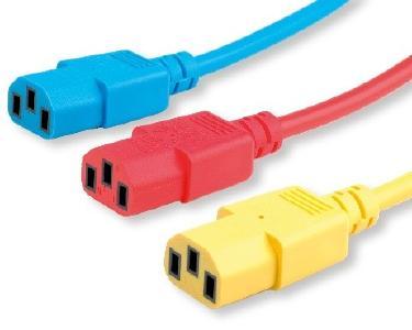 Farbige ROLINE Stromkabel für Netzwerker und Gamer