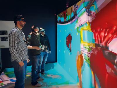 Session de Réalité Virtuelle avec ESI IC.IDO sur un site de Safran Nacelles en France