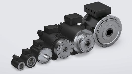 The DST2 torque motors are available with solid shaft, hollow shaft or with thrust bearings, thus offering considerable flexibility when they are integrated into the machine