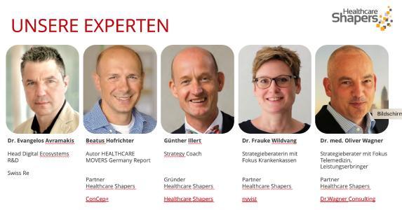 Live-Diskussion am 18.05: Experten der Healthcare Shapers zeigen Schweizer Firmen Weg auf in MedTech Markt Deutschland.