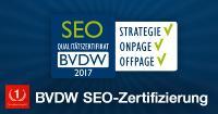 One Advertising AG erhält vom BVDW das SEO-Qualitätszertifikat in den Bereichen Strategie, Onpage und Offpage