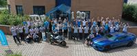 The tkCC team in front of the HQ in Kesselsdorf