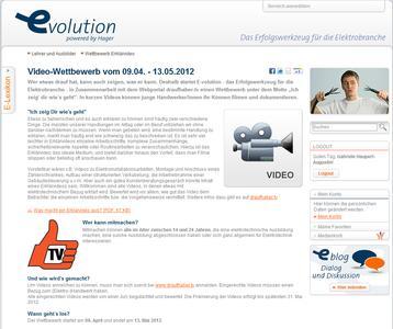 Videowettbewerb auf der Internet-Plattform E-volution