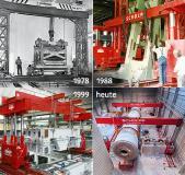 Seit über 40 Jahren nutzt SCHOLPP Hubergrüste für Maschinenmontagen und Produktionsverlagerungen